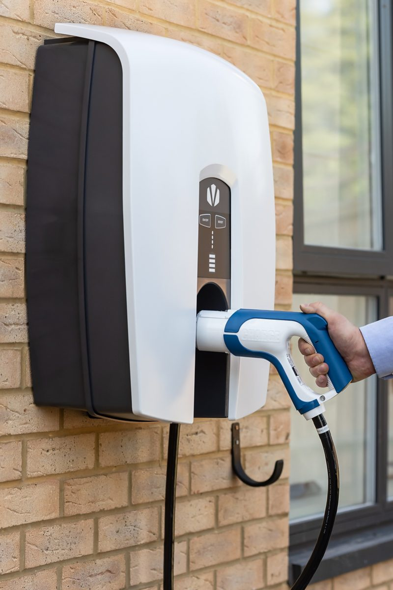 A Kaluza optimised Indra V2G device at an OVO Energy Customer's home.