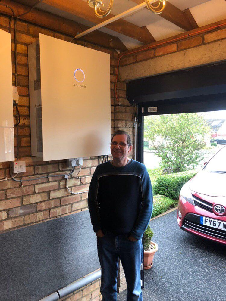 An OVO Energy customer with their new sonnenBatterie.